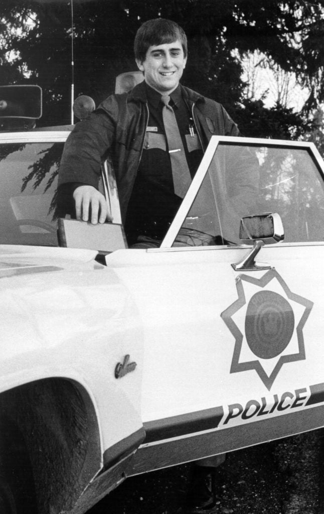 Rep. Dave Reichert, R-Wash., is pictured during his policing days in the early 1970s when he was a patrol officer. (Photo courtesy of Reichert)