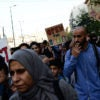 Syrian refugees demonstrate in Athens, Greece, last month. (Photo: Gerasimos Koilakos /NurPhoto/Sipa/Newscom)