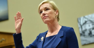 Cecile Richards, president of Planned Parenthood Federation of America, prepares to testify to Congress.(Photo: Kevin Dietsch/UPI/Newscom).