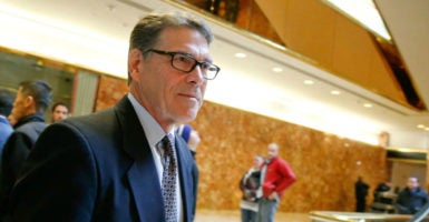 Gov. Rick Perry, R-Texas, has been nominated as the next energy secretary by President-elect Donald Trump. (Photo: Brendan McDermid/Reuters /Newscom)