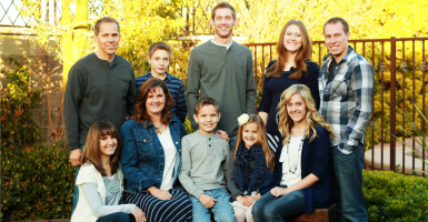 Liz Robbins speaks out about how education savings accounts will help her family of nine. (Photo: Robbins family)