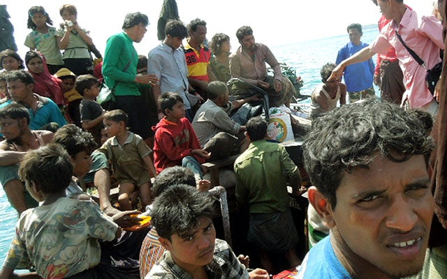 Rohingya Refugess Fleeing Myanmar
