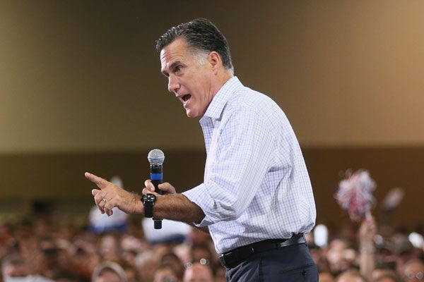 Mitt Romney at a rally