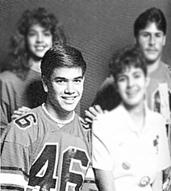 Marco Rubio in high school. (Photo: Twitchy)