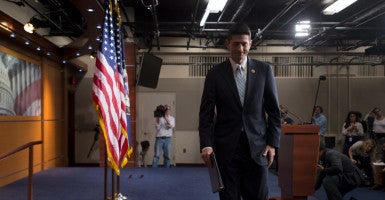 Rep. Paul Ryan, R-Wis., announced Tuesday he will run for speaker of the House if the entire GOP conference promises to unite behind him. (Photo: Michael Reynolds/EPA/Newscom)