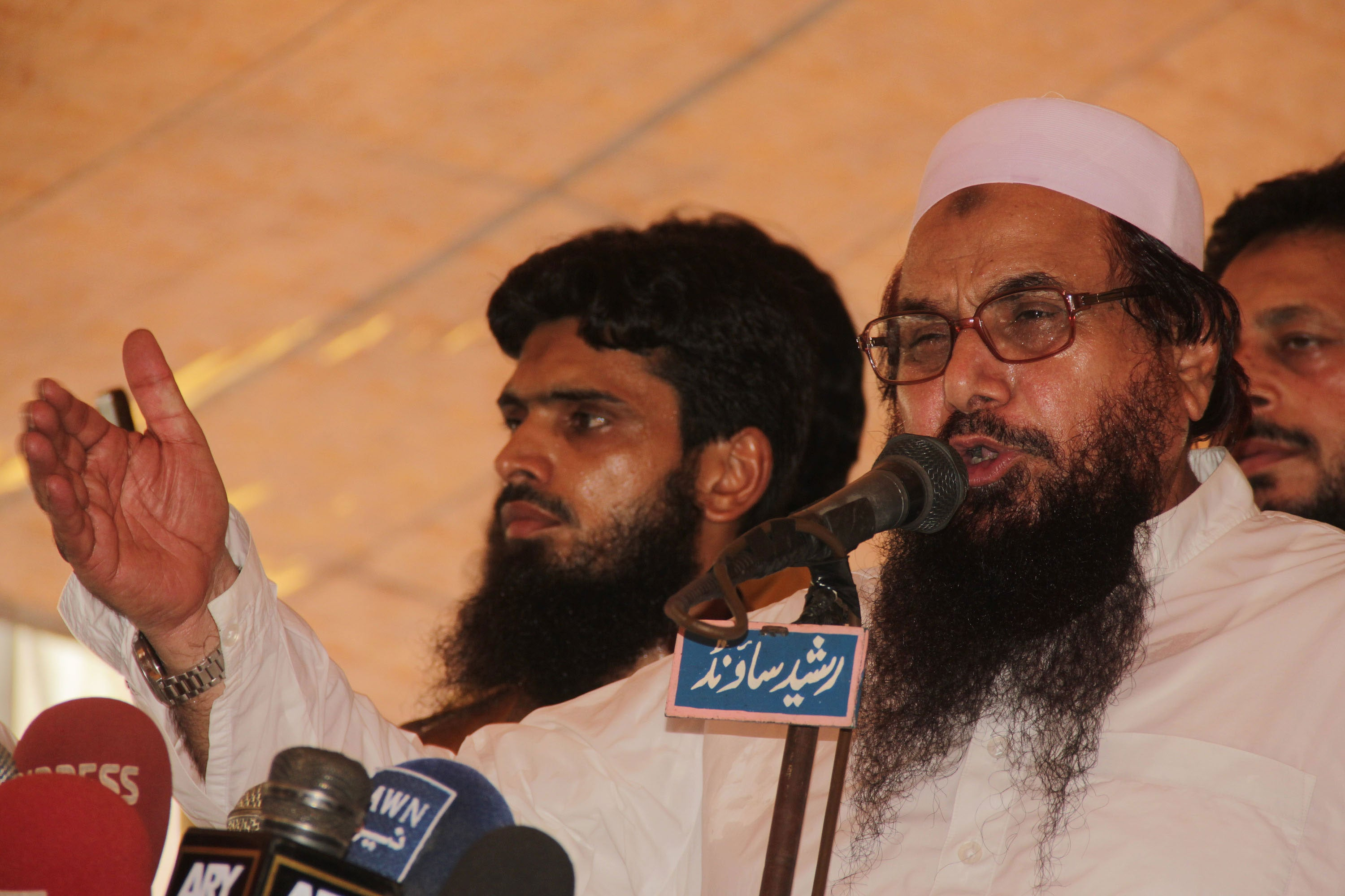 Hafiz Mohammad Saeed, founder of the Lashkar-e-Taiba Islamist group, helped orchestrate the 2012 Mumbai terror attacks. (Photo: Rana Sajid Hussain/Sipa USA/Newscom )