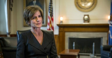 As acting attorney general, Sally Yates ordered Justice Department lawyers not to defend President Donald Trump's executive order that placed a hold on travel for citizens of terror-ridden countries. (Photo: Evelyn Hockstein/Polaris /Newscom)
