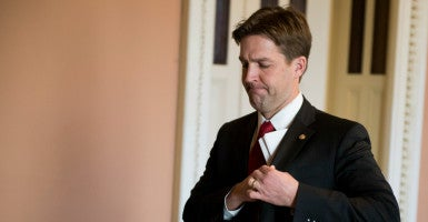 "The last freshman senator to deliver a floor speech, Sen. Ben Sasse, a conservative from Nebraska, called on his colleagues to participate in ""more meaningful fighting."" (Photo: Bill Clark/CQ Roll Call)"
