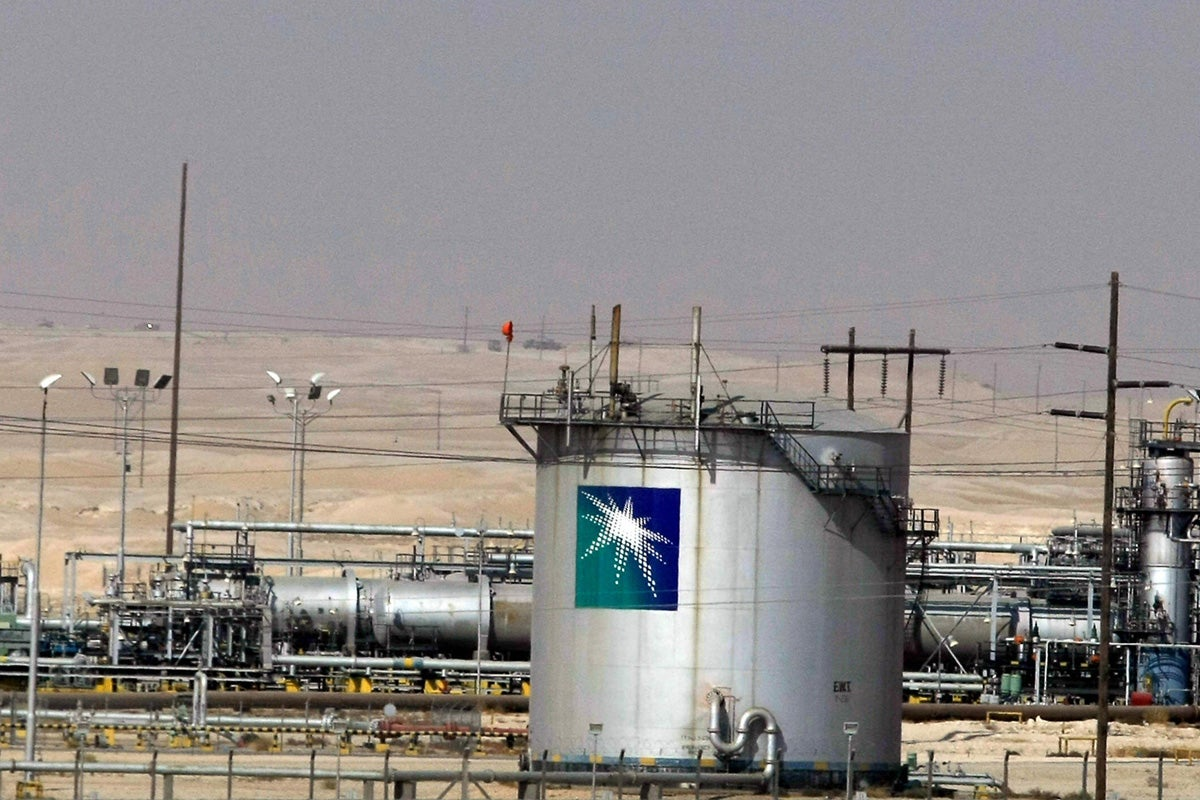 The Saudi Aramco oil facility in Dammam city. (Photo: Hassan Ammar/AFP/Getty Images)