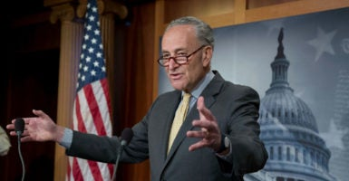 Senate Minority Leader Chuck Schumer, D-N.Y., says he will not support funding for a border wall, but voted for a border wall in 2006. (Photo: Michael Reynolds/EPA/Newscom)