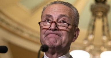 """We do not want judges with ice water in their veins,"" says Senate Minority Leader Chuck Schumer, D-N.Y. (Photo: Jeff Malet Photography/Newscom)"
