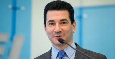 Scott Gottlieb, a health policy specialist at the American Enterprise Institute and assistant professor at NYU's School of Medicine, has long been a high-profile voice for conservative health policy reforms. (Handout/Reuters/Newscom)