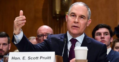 Oklahoma Attorney General Scott Pruitt has led the charge in a number of state-initiated lawsuits against different Obama administration agencies. (Photo: Consolidated News Photos/Newscom)