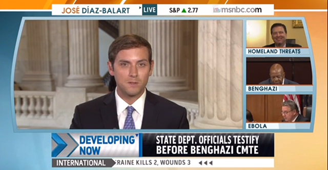 Russert misrepresented the entire story on MSNBC to host Jose Diaz-Balart. (Photo: MSNBC Screengrab)