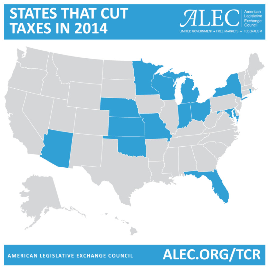 Map: State Tax Cut Roundup/ALEC