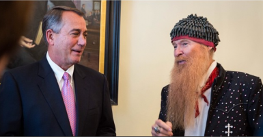 """Met the best-dressed man in show business, Billy F Gibbons from @ZZTop, during a ceremony at the @USCapitol earlier this week."" -- @SpeakerBoehner Instagram"