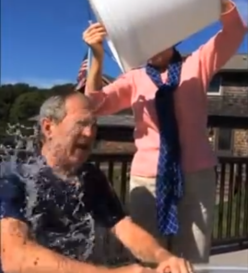 George W. Bush got iced by his wife. (Photo: YouTube)