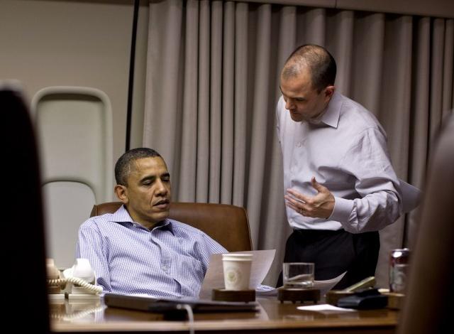 President Barack Obama with with Ben Rhodes (Photo: Pete Souza/The White House/ZUMAPRESS.com)