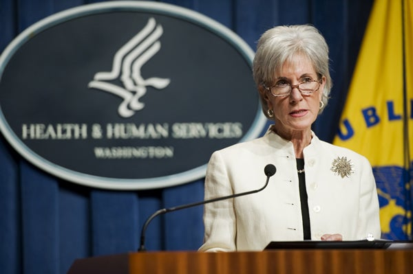 Health and Human Services Department (HHS) Secretary Kathleen Sebelius