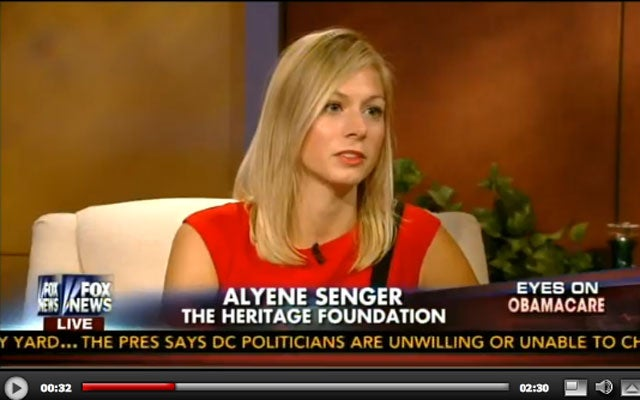 "Alyene Senger on Obamacare, ""Fox & Friends"""