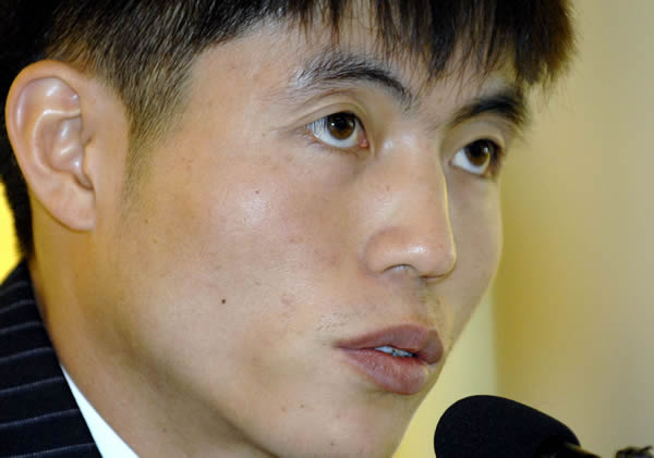 Shin Dong-Hyuk, a North Korean defector, speaks during a press conference in Seoul, in October 2007. Shin who was born and spent 22 years in a North Korean prison camp
