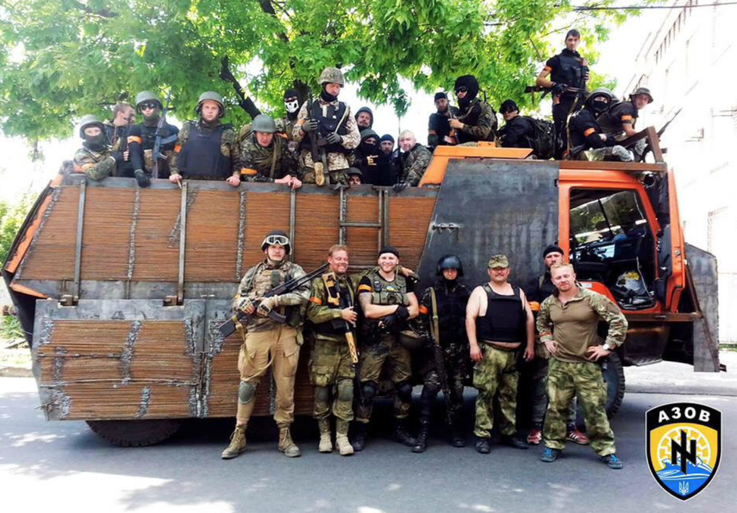Azov troops after the battle for Mariupol (Photo courtesy Mikael Skilt)