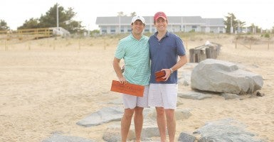 Austin Branson (left) and Peter Carter founded accessories brand Smathers and Branson in 2004. (Photo: Smathers and Branson)