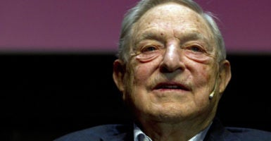 Billionaire activist George Soros funds left-wing causes across the globe, including in Eastern Europe. (Photo: Alejandro Garcia/EPA/Newscom)