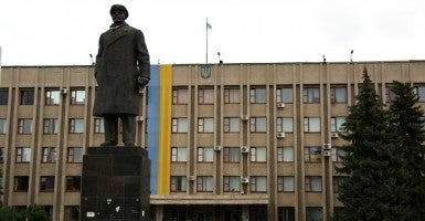 A statue of Vladimir Lenin in Slavyansk, Ukraine (Photo: Nolan Peterson/The Daily Signal)
