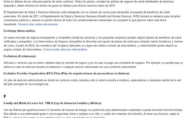 Text from http://www.cuidadodesalud.gov/glossary.html