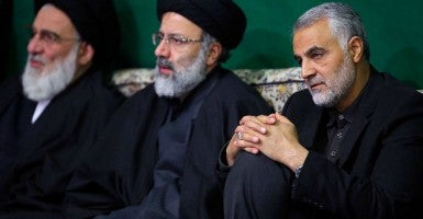 Qassem Suleimani, Major General the Commander of the Quds Force in the Iranian Army of the Guardians of the Islamic Revolution at compound of Ayatollah Ali Khamenei, the Supreme Leader of Iran. (Photo: AY-COLLECTION/SIPA/Newscom)