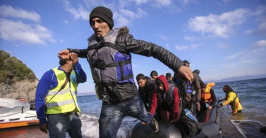 At the height of the refugee crisis, individuals from war-torn countries such as Syria and Afghanistan traveled from Turkey to Greece by boat, with the goal of making it to northern European countries, including Sweden. (Photo: Nicolas Economou/Zuma Press /Newscom)