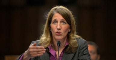 Secretary of Health and Human Services Sylvia Burwell's speech came as Republicans prepare to repeal and replace the Affordable Care Act. (Photo: Shawn Thew/EPA/Newscom)