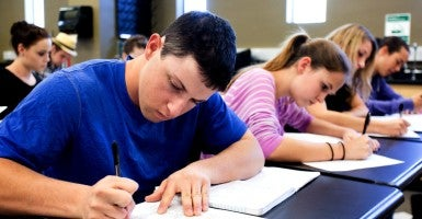 Students taking a test. (Photo: Hill Street Studios Blend Images/Newscom)