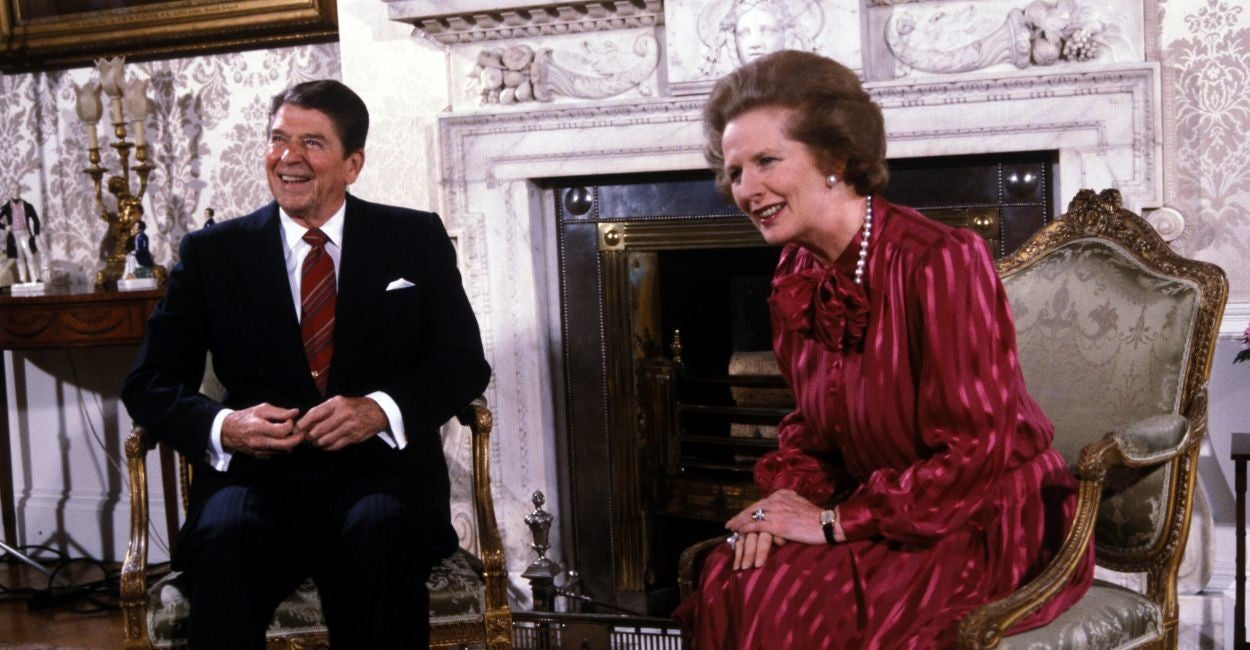 President Ronald Reagan with Prime Minister Margaret Thatcher in 1984. (Photo: Darryl Heikes/Polaris/Newscom)