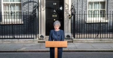 "British Prime Minister Theresa May called for a general election to be held on June 8, citing the need to secure ""strong leadership"" going into Brexit negotiations. (Photo: i-Images/Polaris/Newscom)"