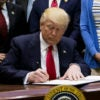 President Donald Trump signed an executive order on Friday directing the Interior Department to lift the Obama administration's restrictions on offshore drilling. (Photo: Eric Thayer/UPI/Newscom)