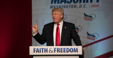 President-elect Donald Trump has made heartening promises to social conservatives, including that he will sign pro-life legislation and protect religious liberty. (Jeff Malet Photography/Newscom)