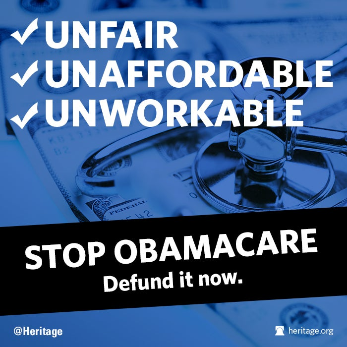 "Stop Obamacare, Defund, 3 ""U"" talking point"