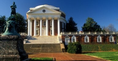 University of Virginia campus founded by Thomas Jefferson in Charlottesville in the state of Virginia. (Photo: Andre Jenny Stock Connection Worldwide/Newscom)