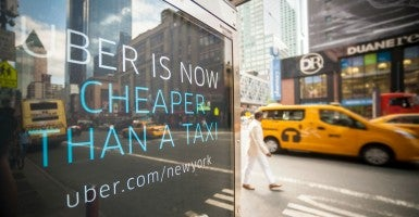 Uber has over 20,000 cars registered in New York City. (Photo: RICHARD B. LEVINE/Newscom)