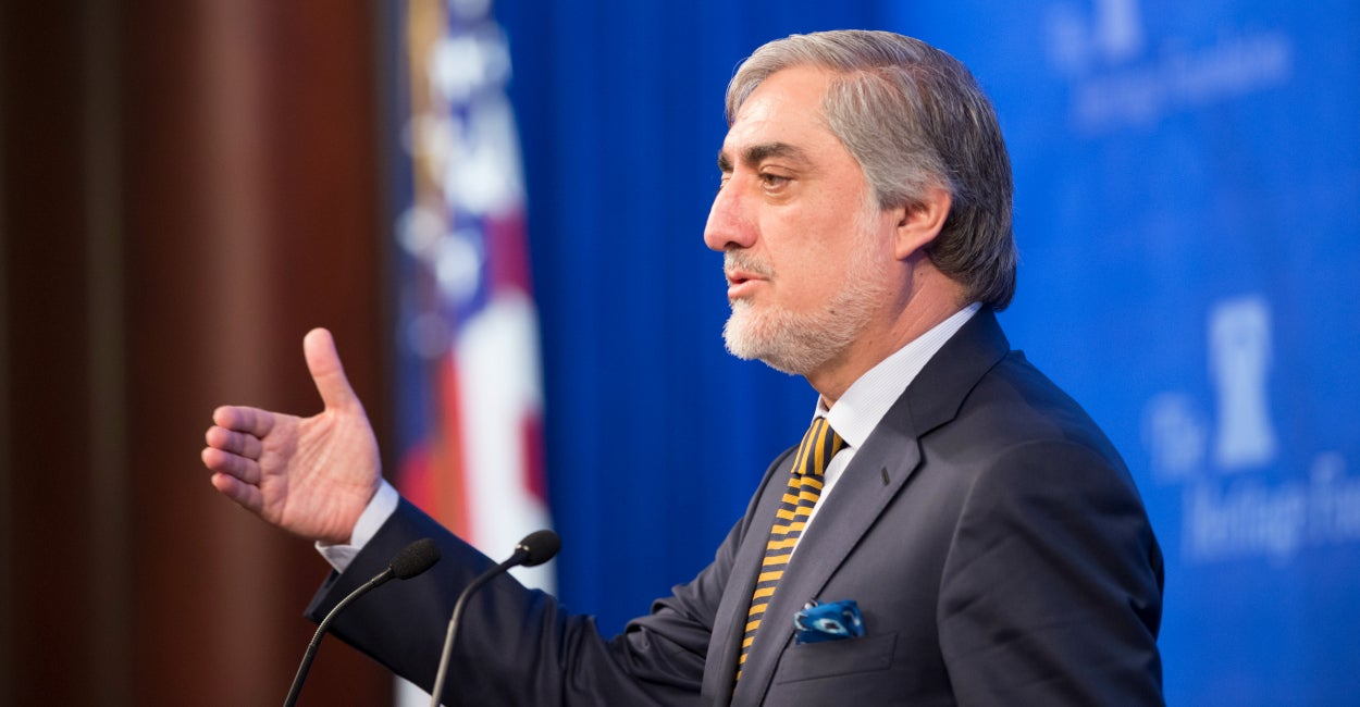 Dr. Abdullah Abdullah, the chief executive of Afghanistan, speaks at The Heritage Foundation Thursday.