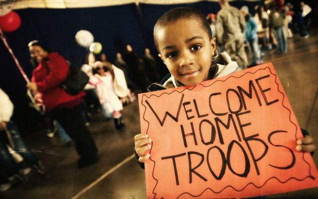 Welcome home, troops