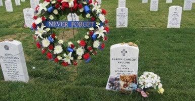 All photos courtesy of 'In Memory of Navy Seal Aaron Carson Vaughn' Facebook page.