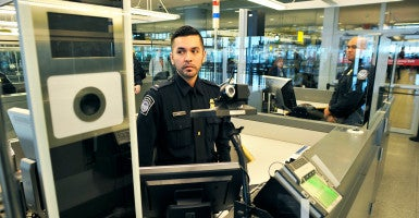 U.S. Customs and Border Enforcement, trying to improve its system for tracking foreigners exiting the U.S., is debuting a new facial-recognition software. (Photo: Matthew McDermott/Polaris/Newscom)