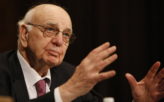 Former Federal Reserve Board Chairman Paul Volcker (Fang Zhe/ZUMAPRESS/Newscom)