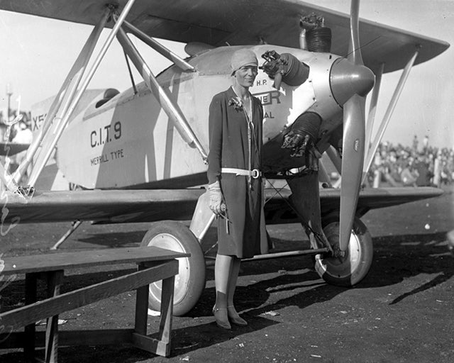 Amelia Earhart, Los Angeles, 1928. Photo credit: Los Angeles Times photographic archive/UCLA Library/Wikipedia