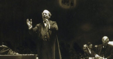 William Jennings Bryan, a leading populist figure in American history, speaks at the 1908 Democratic National Convention. (Photo: Everett Collection/Newscom)