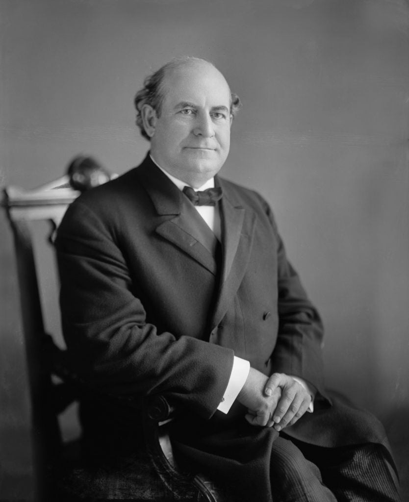 Populist leader William Jennings Bryan (1860-1925) supported free trade, the removal of tariffs, and the ending of cronyism as a means of improving the economic state of ordinary American citizens. (Photo: JT Vintage/ZUMA Press/Newscom)