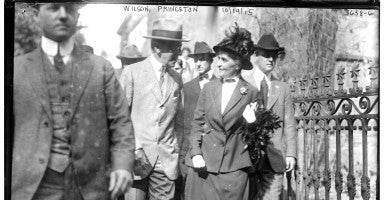 President Woodrow Wilson at Princeton University in 1915. (Photo: Library of Congress/ Flickr)